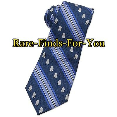 "Disney Parks Star Wars ""R2-D2"" Droid Striped Silk Woven Tie for Adults (NEW)"