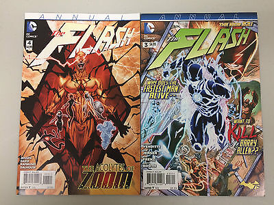 Flash The New 52 Annual #3 1st Appearance of Wally West & #4 1st prints DC