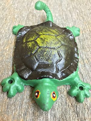 3 Hand Painted HD cast Iron Turtle Hooks Sea Hat Coat