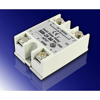 25A DC-AC SSR Solid State Relay 3V-32V DC input for oven, LW SZUS