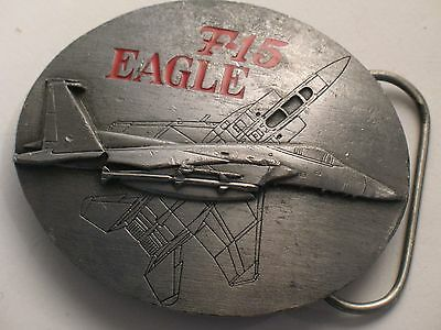 F-15 Eagle Fighter Jet Vintage Pewter Belt Buckle 1990 by Siskiyou