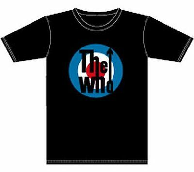 The Who Classic Bullseye Logo T-Shirt Black Small Officially Licensed Rock Band