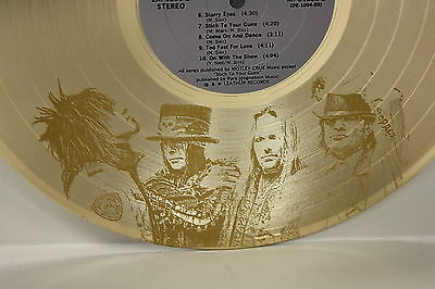 Motley Crue - Rare Laser Etched Images Gold LP Record Wall Art - USA Ships Free