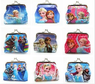 wholesale bulk lots 48pcs frozen Anna Elsa girls cartoon coin wallets purses