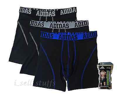 3 X ADIDAS Climalite Men's Athletic Boxer Brief Sport Underwear S M L XL NEW