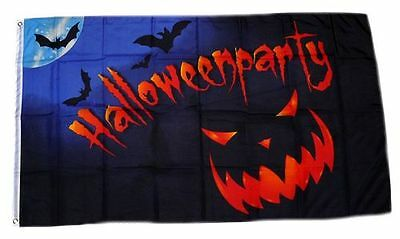 Flagge / Fahne Happy Halloween Party Hissflagge 90 x 150 cm