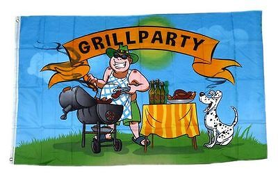 Flagge / Fahne Griller Grillparty Grillfahne Hissflagge 90 x 150 cm