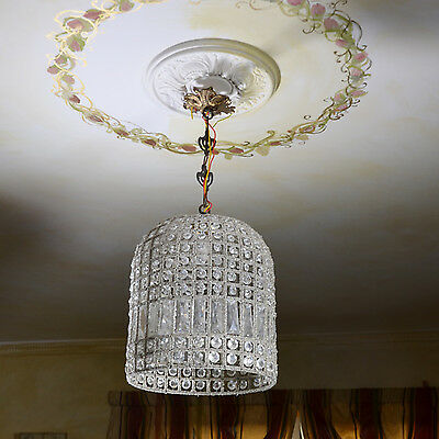 Chandelier Ceiling Lamp Light Shade Pendant Lightning Crystals Brass Hanging