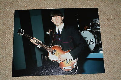 PAUL MCCARTNEY signed Autogramm 20x25 cm In Person THE BEATLES