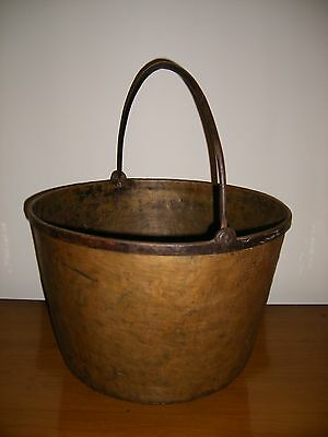 Large Antique Apple Butter Kettle ~ Old Hand Wrought Cauldron