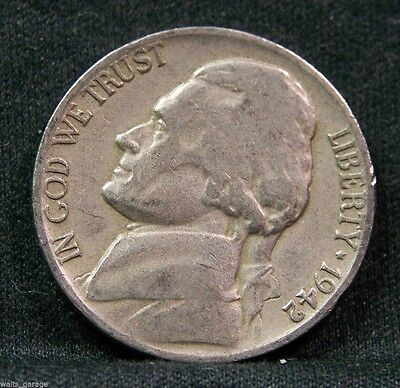 1942 D Jefferson Nickel,Type 1, Over 700 Sold! Free Ship!