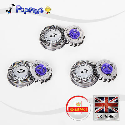 3pcs X Shaver Razor Heads Replacement Blades Cutters For Philips HQ55
