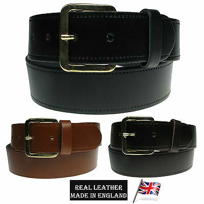 Mens Belt 40Mm Jean Trouser Casual Wear Full Leather Uk Made Belt