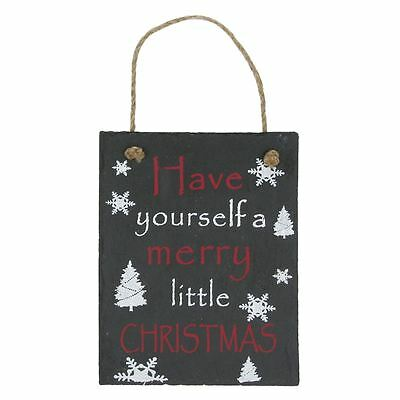 Lesser & Pavey Have Yourself a Merry Little Christmas Slate Plaque