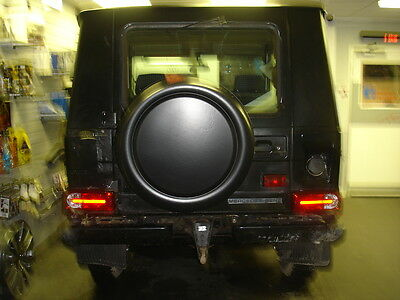 MERCEDES G-WAGEN/WAGON 4x4 SEMI-RIGID SPARE WHEEL COVER - BLACK