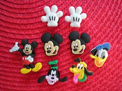 Clog Shoe Charm Button Fits Jibbitz WristBand Mickey Mouse Fit Crocs Accessories