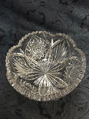 Vintage Libbey Bright Crystal Bowl Signed Rare and Brilliant Piece