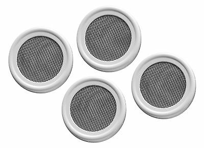 4 pack-Stainless Strainer / Sprouting lids for regular mouth mason/canning jars