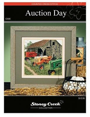 Stoney Creek Counted Cross Stitch Pattern Book: Auction Day. Free Delivery