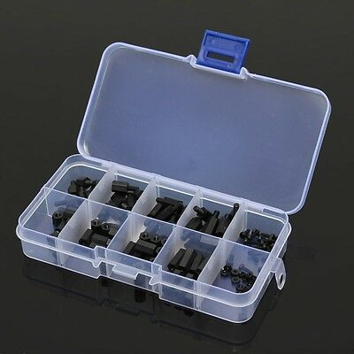 120x M2 Nylon Hex Spacers Screw Nut Assortment Kit Stand-off Accessory #M1955 QL