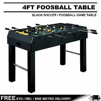 4Ft Black Soccer / Foosball Game Table Free Syd Mel Bne Delivery