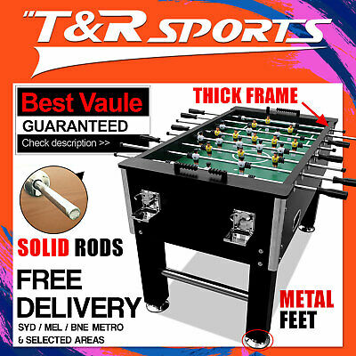 5Ft Heavy Duty Black Soccer / Foosball Game Table Solid Rod Free Postage*