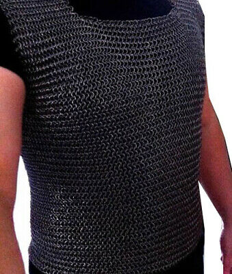 Christmas Presents Xmas Gifts  Butted Chainmail Shirt Black Small Size Nk52