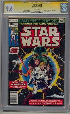 Star Wars #1 Cgc 9.6 Ss Signed Stan Lee White Pages 1977 Original