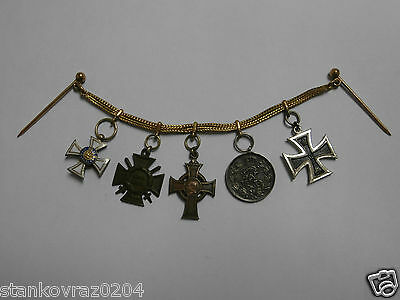German Empire: Miniature bracelet with 5 miniatures