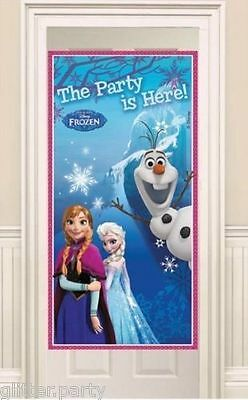 Disney Frozen Party Here Door Banner  Banner Sign Anna Elsa Olaf  Decoration