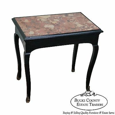 Antique French Louis XV Style Marble Top Side Table
