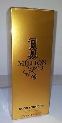 Paco Rabanne 1 Million 6.7oz 200ml Men Eau de Toilette EDT 100% Original  Sealed