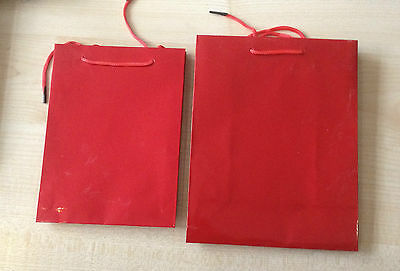 Medium Size Laced Glossy Gift  Bags various designs UK SELLER 20x14x7 cm