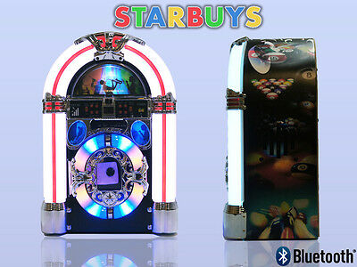 CD Jukebox Machine Built In Radio Bluetooth Speaker MP3 Lights - Limited Edition
