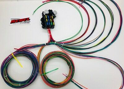 12 circuit universal wire harness muscle car hot rod street rod 14 circuit rebel wiring harness pt 8869 universal street rod rat rod usa