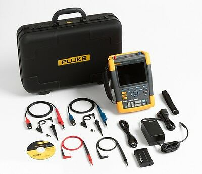 NEW Fluke 190-202/S Color ScopeMeter, 200 MHz, 2 channels with SCC-290 kit
