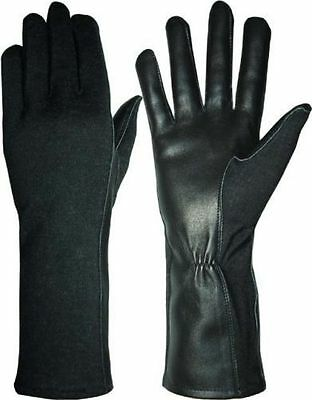 NOMEX FLIGHT GLOVES PILOT FIRE RESISTANT Black