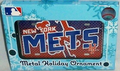 NEW YORK METS  Metal Holiday Ornament by Forever Collectables