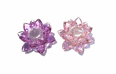 Crystal Cut Glass Lotus Flower in Variety Colours & Sizes - Lucky  & Prosperity