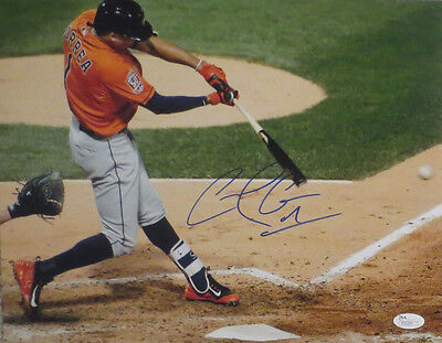 Carlos Correa Autographed Astros Signed Authentic Baseball 11x14 Photo JSA COA 1