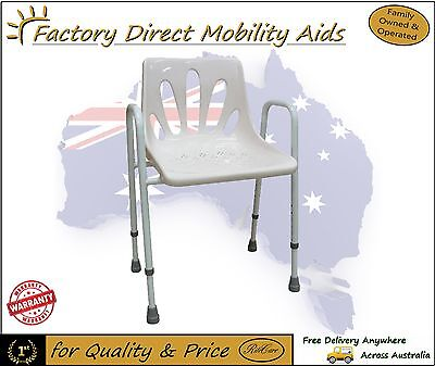 NEW! Deluxe ALUMINIUM Shower Chair Adjustable Height