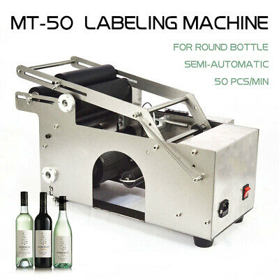 Top Semi-Automatic Labeler Machine Mt-50 Round Bottle Labeling Machine