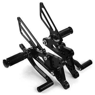 Yamaha YZF R6 03 04 05 Adjustable Footpegs Foot Rests Rear Sets Rearsets New CNC