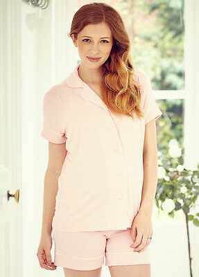 New - Amoralia - Daddy PJ Short Set in Petal - Maternity Clothes