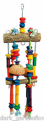 The Fun Factory  Large Parrot Toy Macaw Cockatoo  Rope and Wood