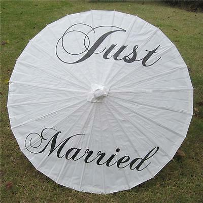 """Just Married Folding Paper Umbrella Wedding Bridal Photoprops Decoration 33"""""""