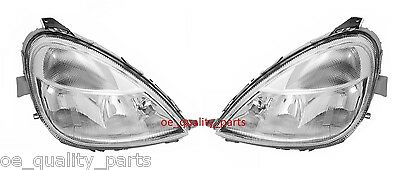Mercedes A W168 Pair Front Reflectors Headlights Headlamps Head Light Lights LHD