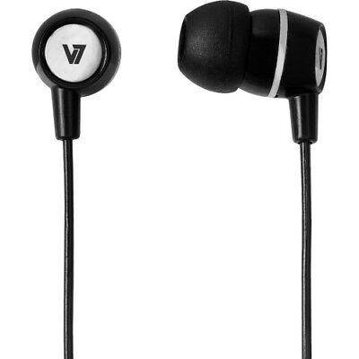 V7 HA110-BLK-12NB V7 Stereo Earbuds with Inline Microphone - Stereo - Black - Mi