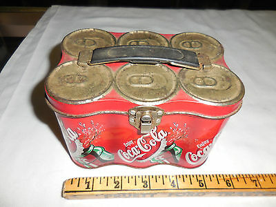 Coca Cola Coke Six Pack Cans Lunch Box Empty