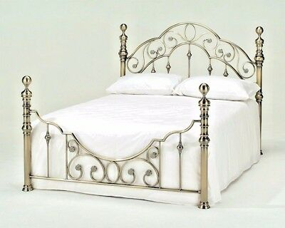 Lavish Florence Brass Finish Bedstead Bed Frame In Double & King*free Delivery**